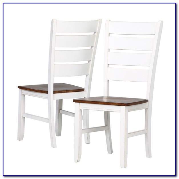 White Wood Ladder Back Chairs