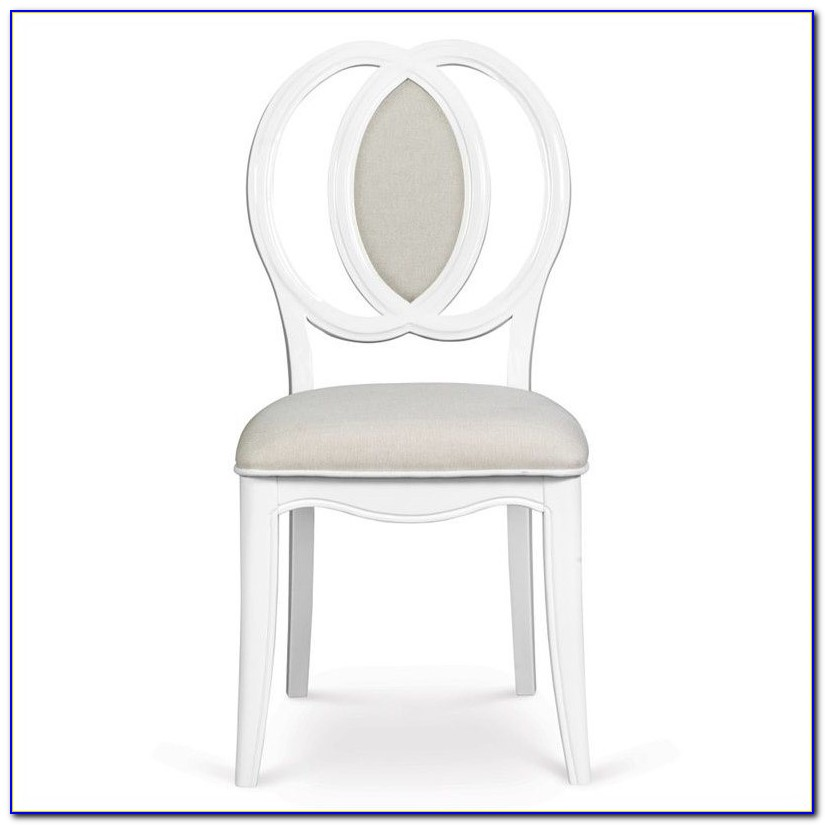 White Wood Office Chair With Arms
