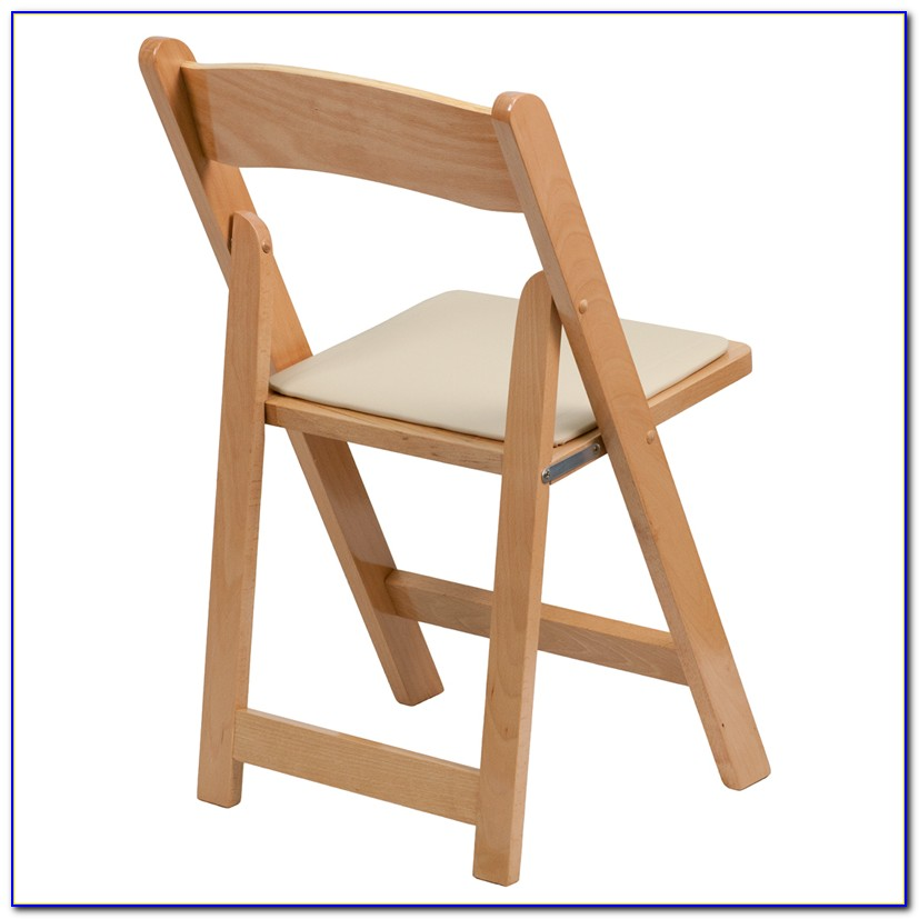 Wood Folding Chairs With Padded Seats