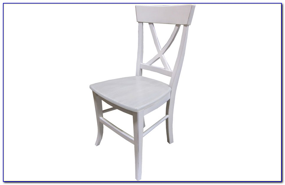 X Back Dining Chairs White
