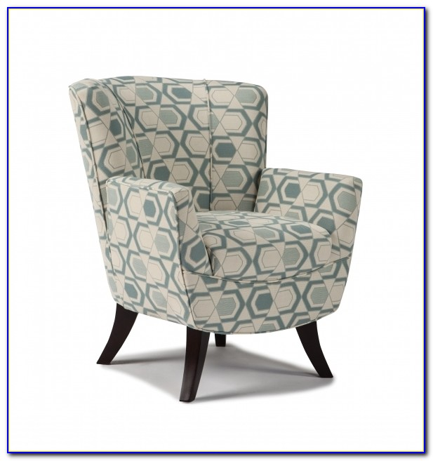Yellow And Gray Armless Accent Chair