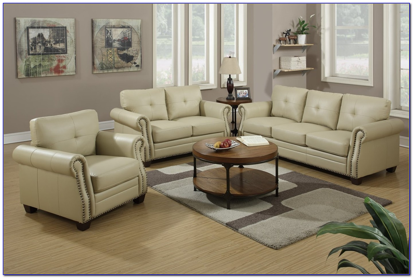 3 Pcs Sofa Loveseat And Chair Set