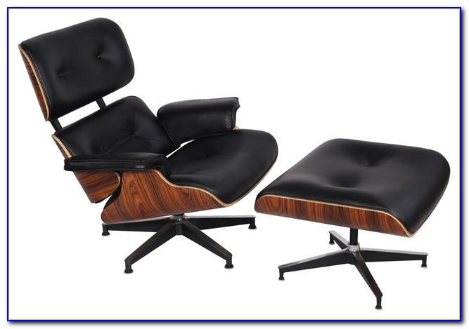 Andre Leather Black Reclining Chair And Ottoman
