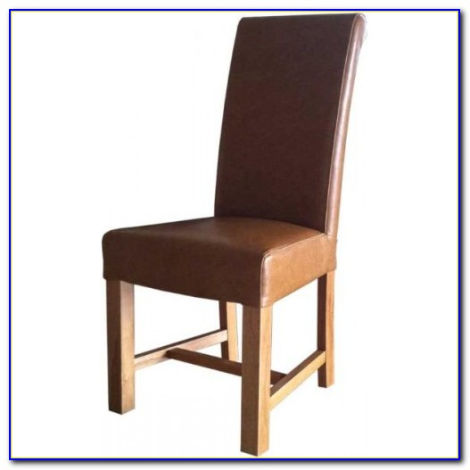 Antique Tan Leather Dining Chairs