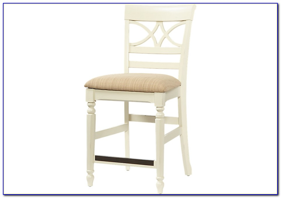 Antique White Counter Height Chairs