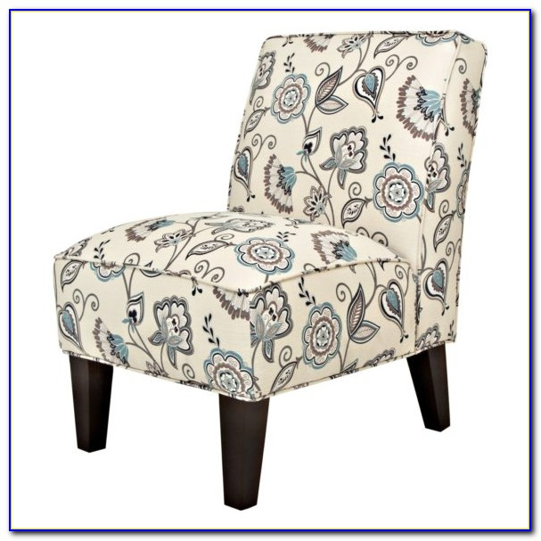 Aria Accent Chair Blue And White