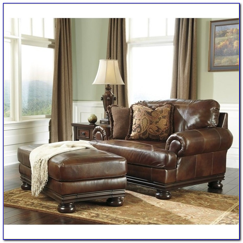 Ashley Furniture Crawford Chocolate Chair And Ottoman