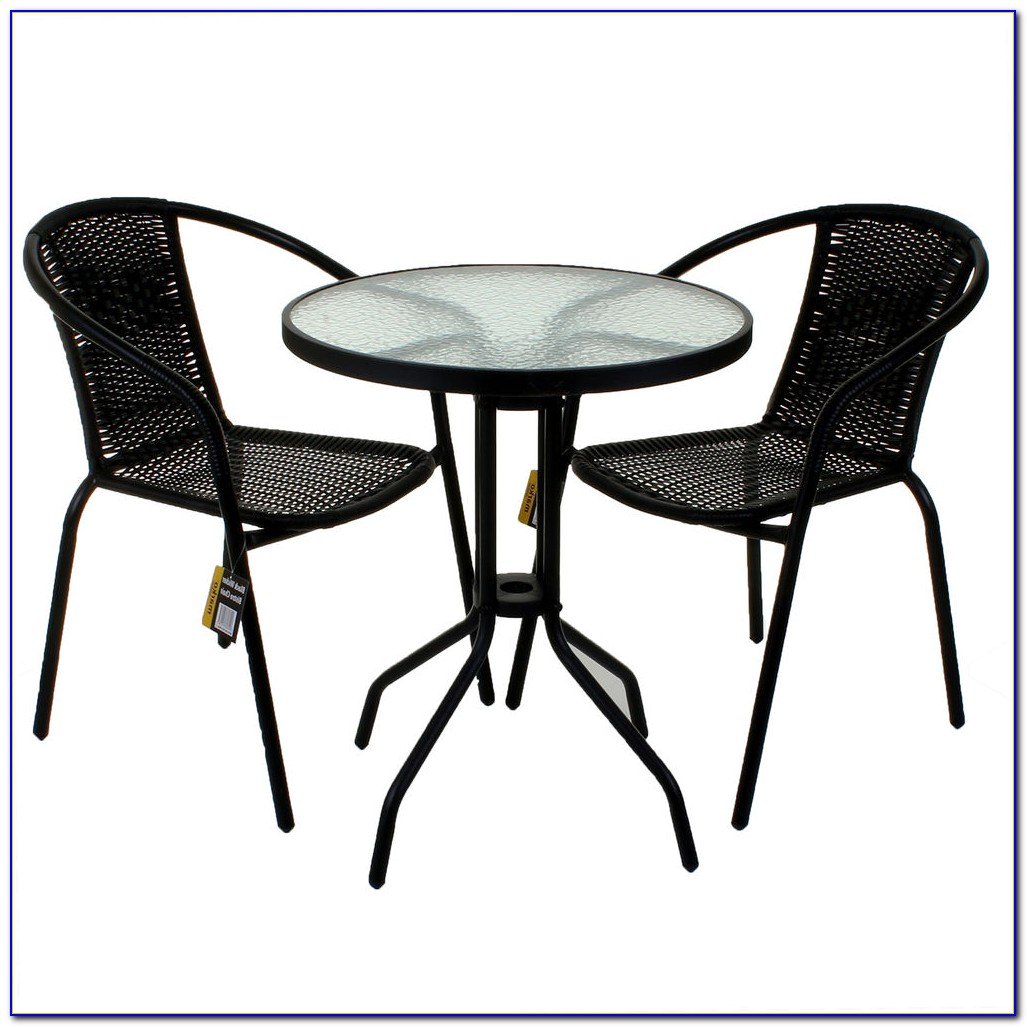 Bamboo Bistro Table And Chair Set