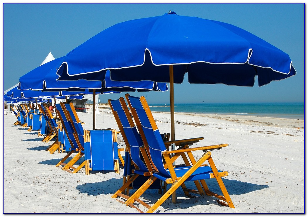 Beach Chairs And Umbrellas Pictures