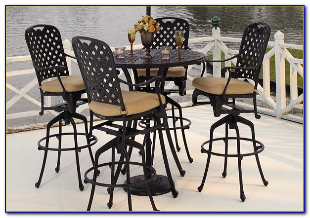 Bistro Table Set Outdoor Wrought Iron