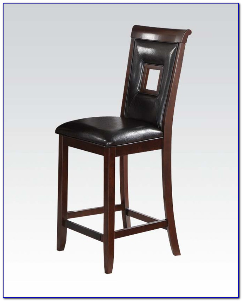 Black And Cherry Counter Height Chairs