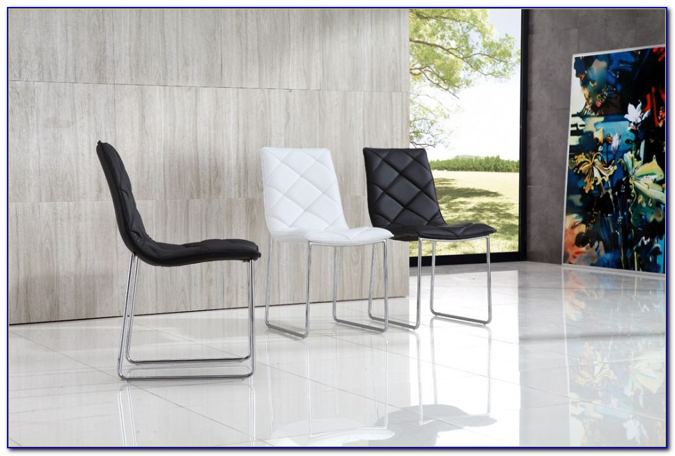 Black And White Modern Dining Chairs