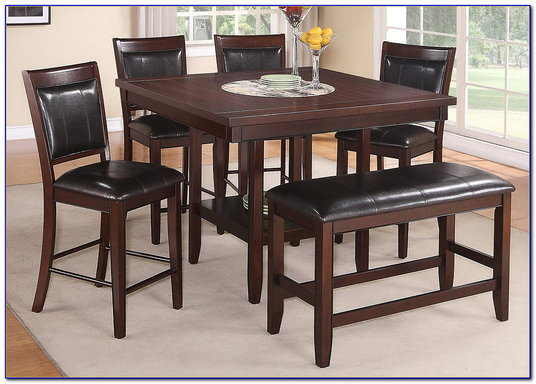 Black Counter Height Dining Table And Chairs