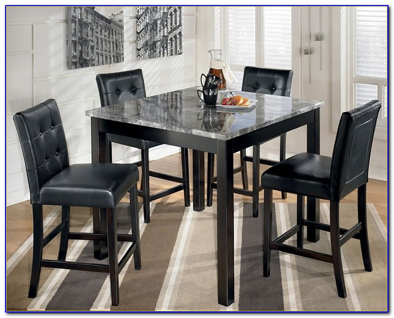 Black Counter Table And Chairs