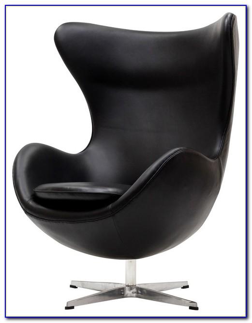 Black Leather Swivel Cuddle Chair