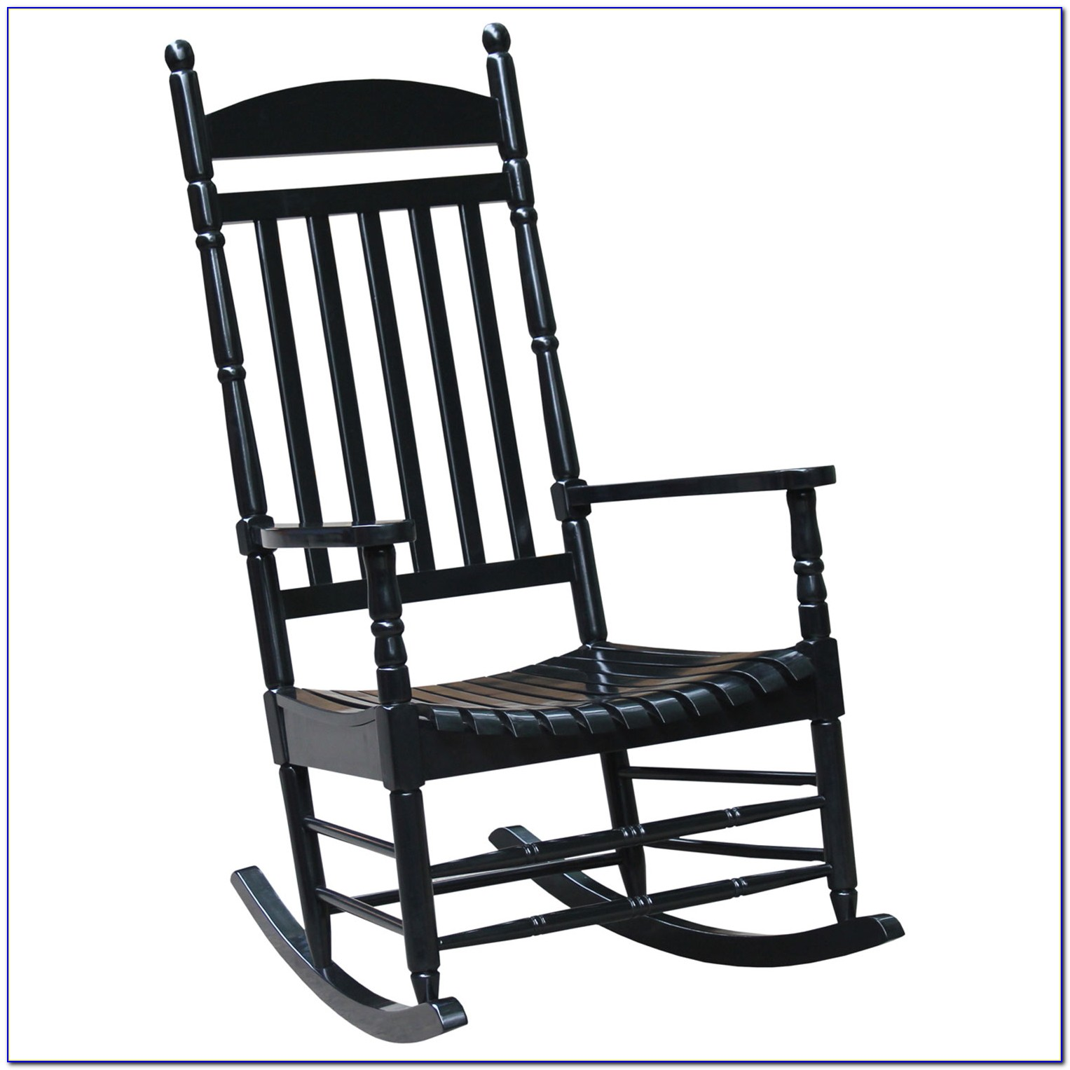 Black Metal Outdoor Rocking Chair