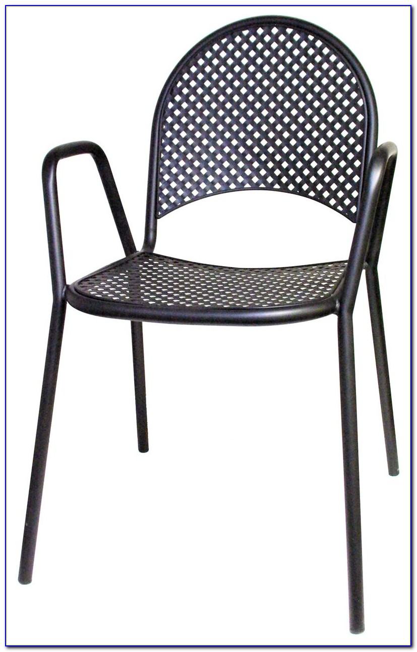 Black Metal Patio Chairs With Cushions