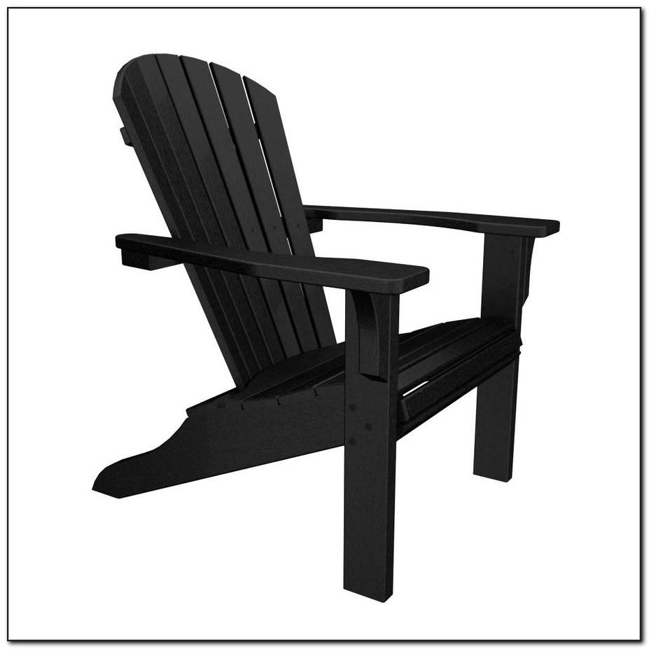 Black Plastic Adirondack Chairs