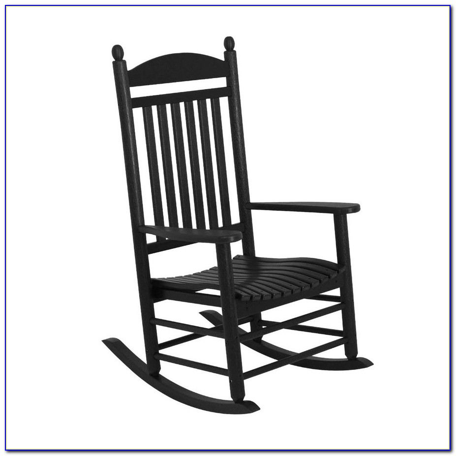 Black Resin Outdoor Rocking Chairs