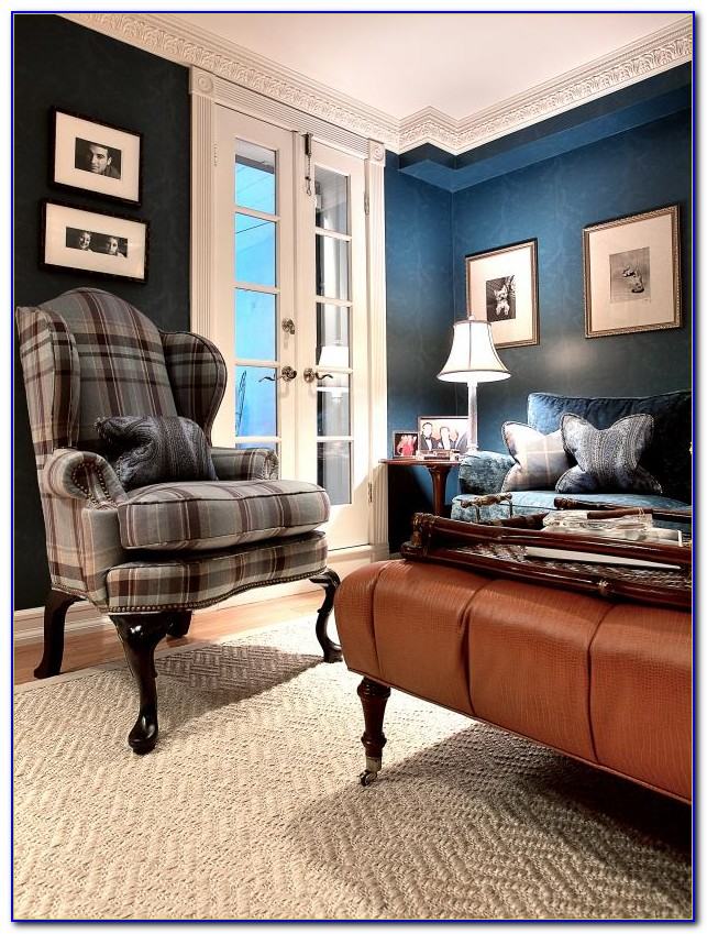 Blue And Brown Living Room Chairs
