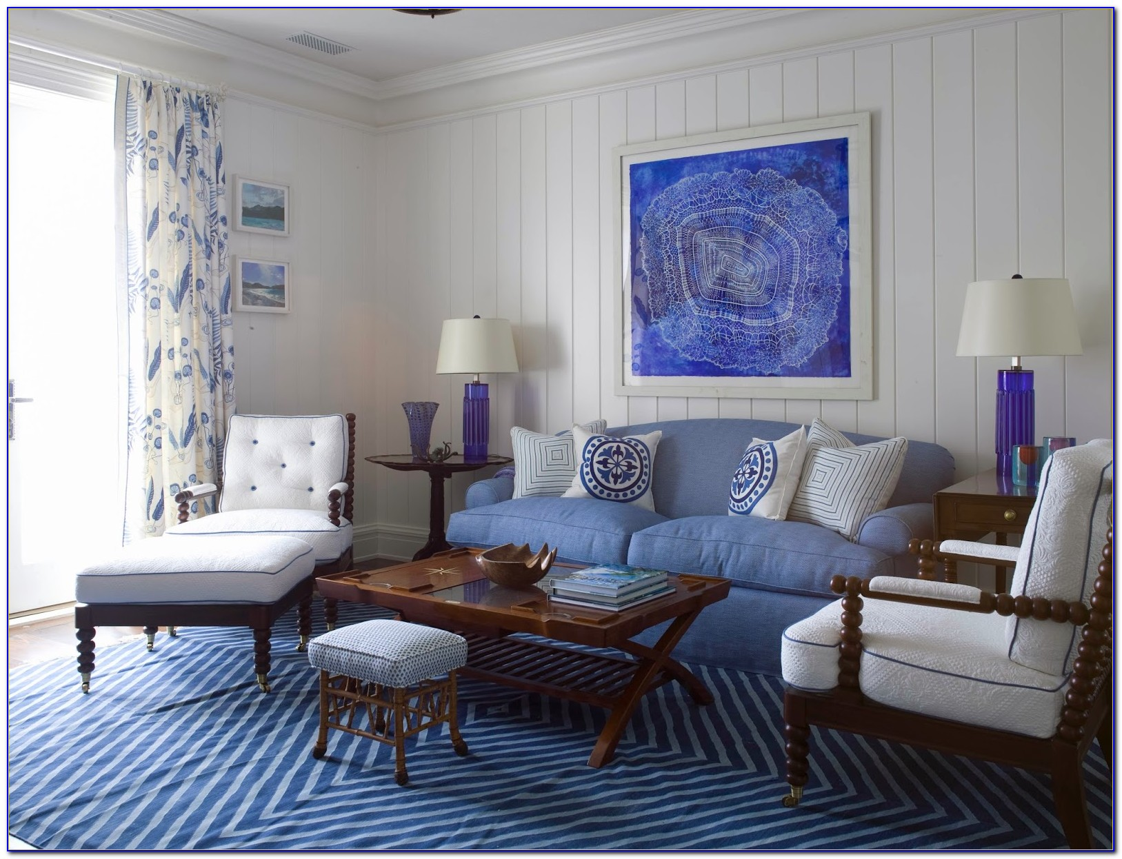 Blue And Yellow Living Room Chairs
