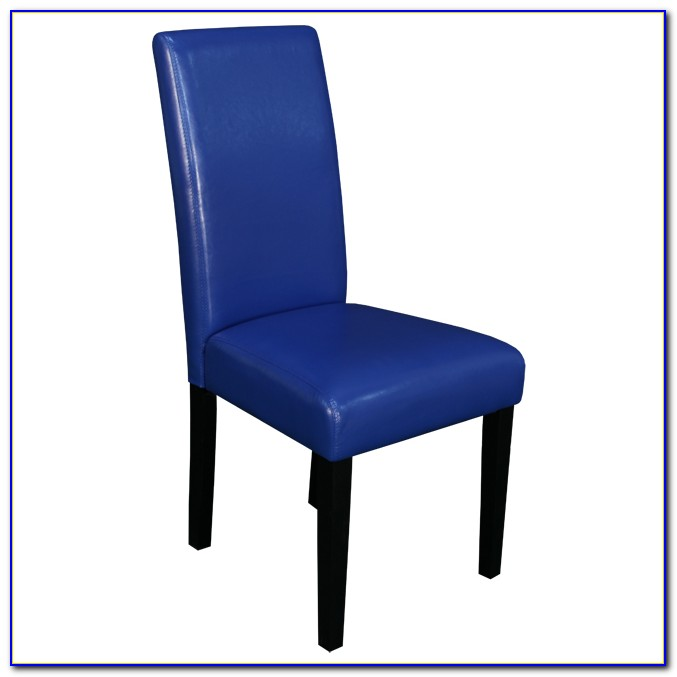 Blue Faux Leather Dining Chairs