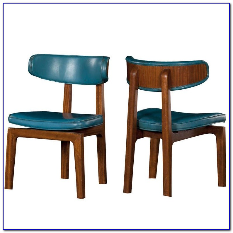 Blue Leather Dining Set