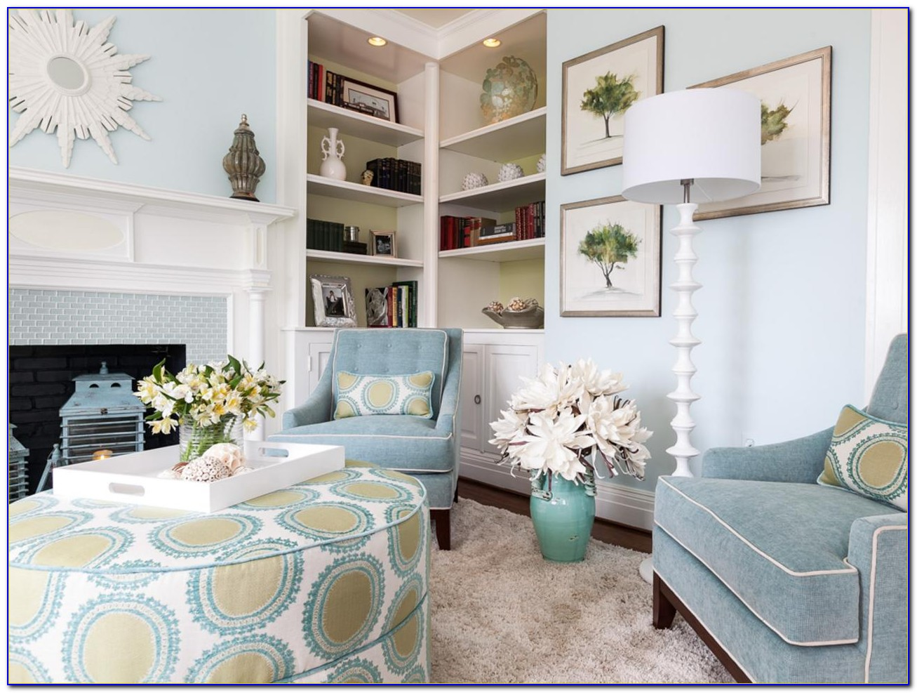 Blue Living Room Accent Chairs