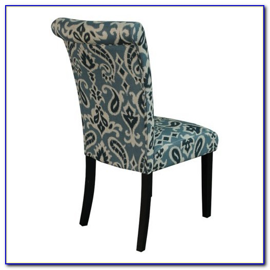 Blue Velvet Upholstered Dining Chair