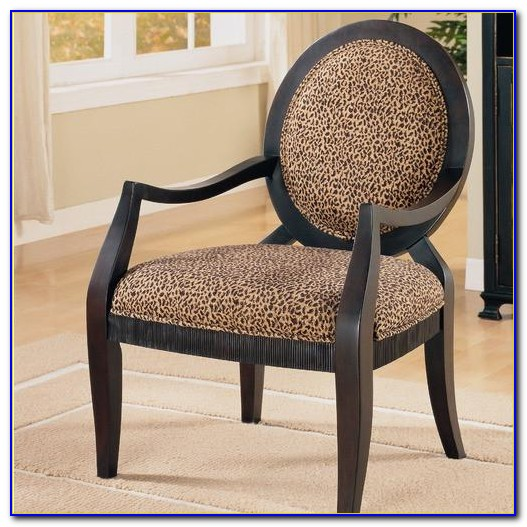 Brown Animal Print Accent Chair