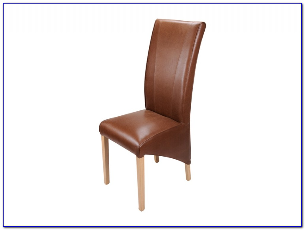Brown Leather Dining Room Arm Chairs