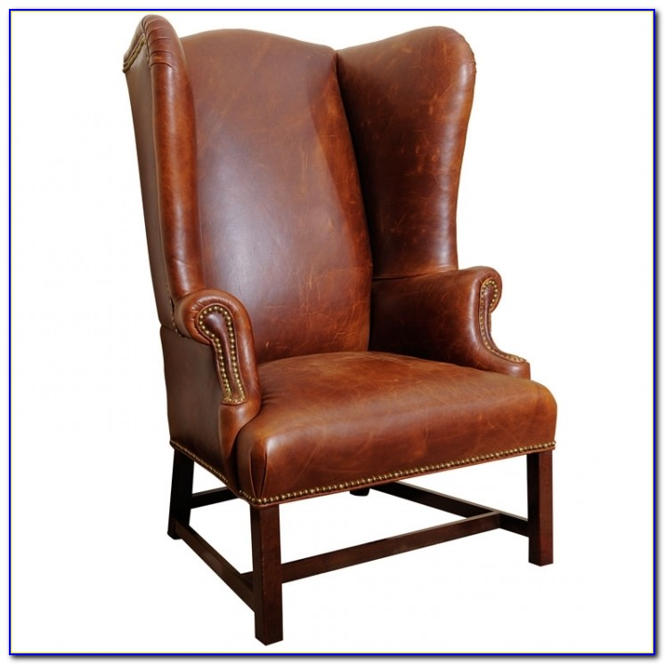 Brown Leather High Back Chairs