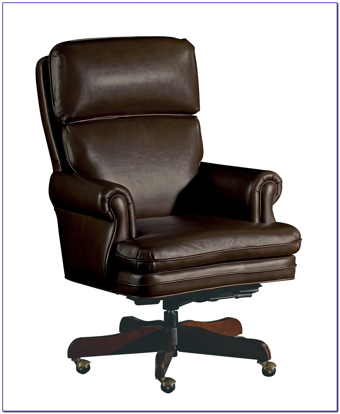Brown Leather Swivel Chair 60
