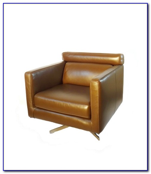 Brown Leather Swivel Chair Dfs