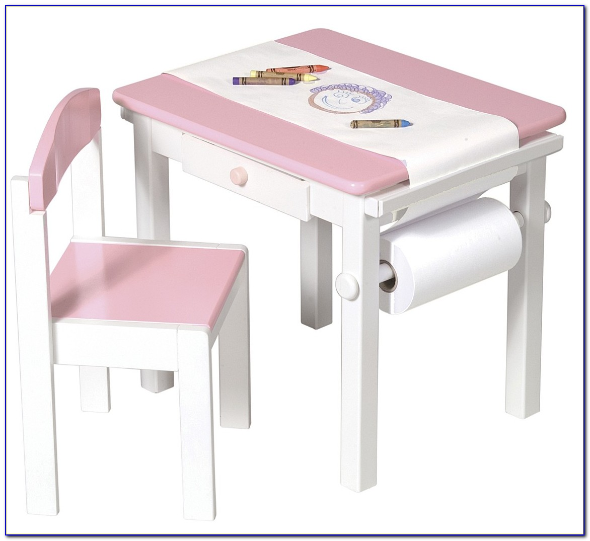 Childrens Desk And Chair Set White