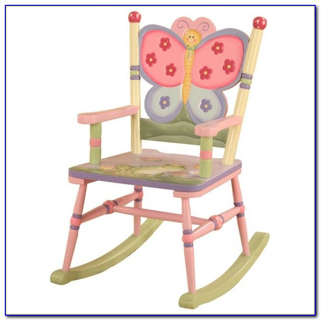 Childrens Wood Rocking Chair