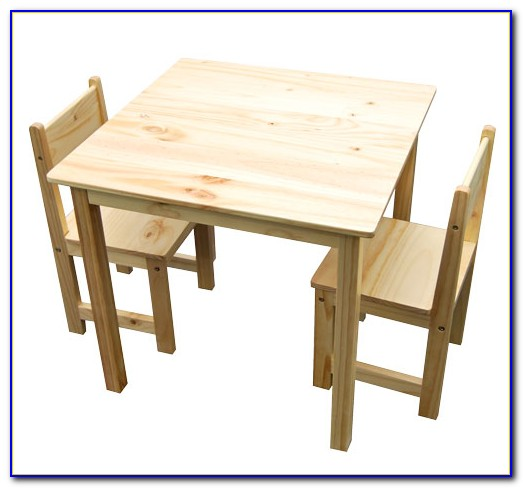 Childrens Wooden Table And Chair Set Canada
