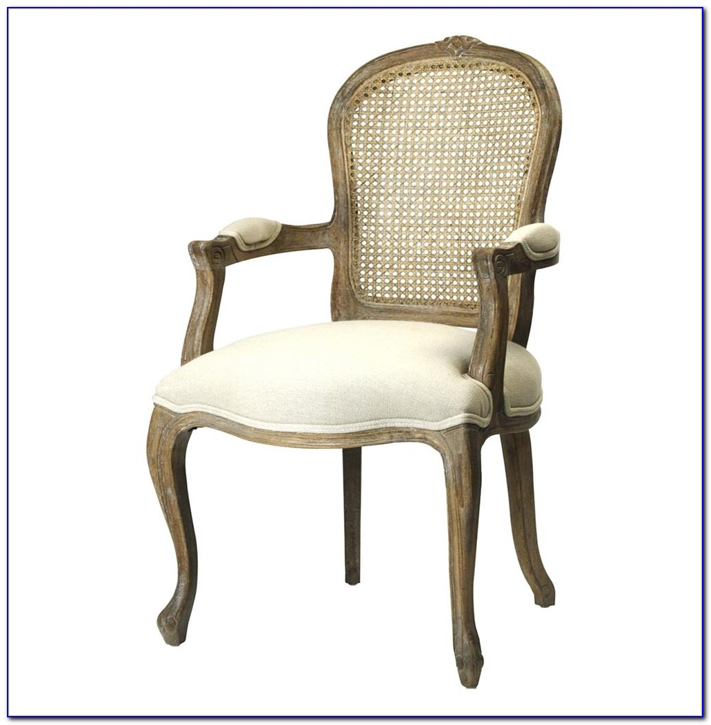 Country French Dining Chairs With Rush Seats