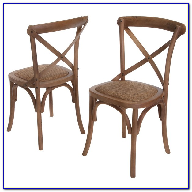 Cross Back Dining Chairs And Table