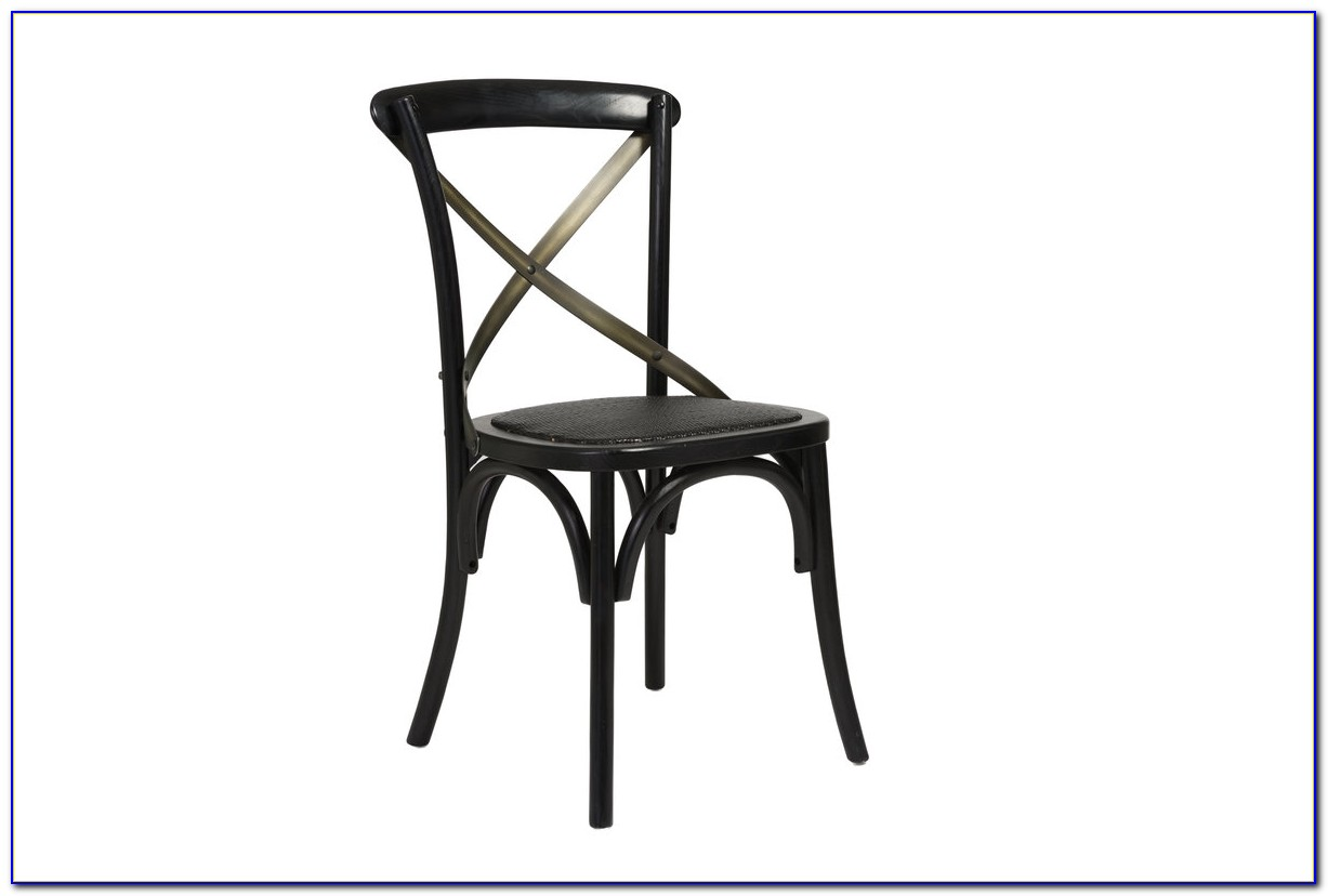 Cross Back Dining Chairs Black