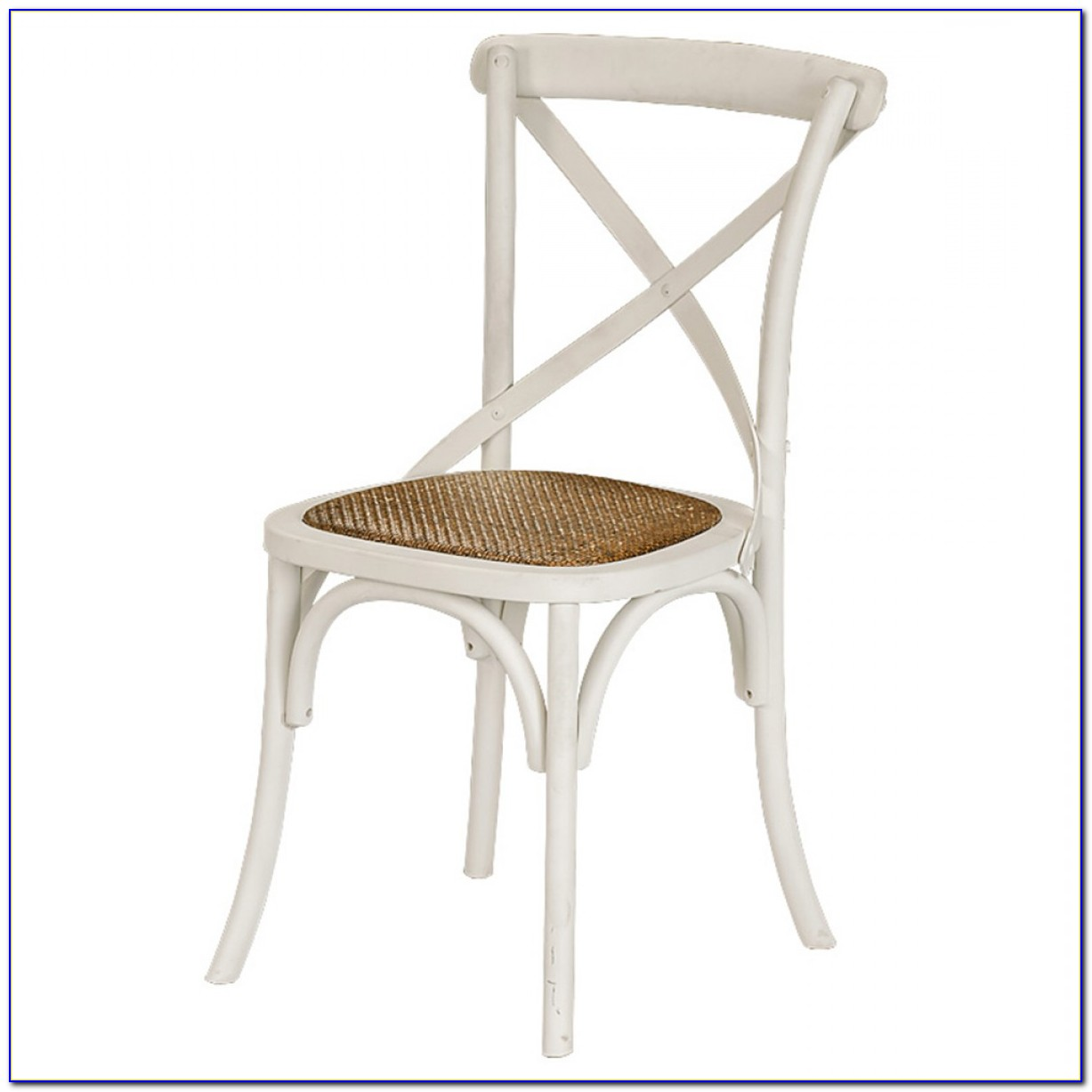 Cross Back Dining Chairs White