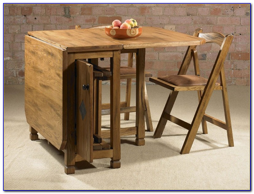Drop Leaf Table With Hidden Chairs