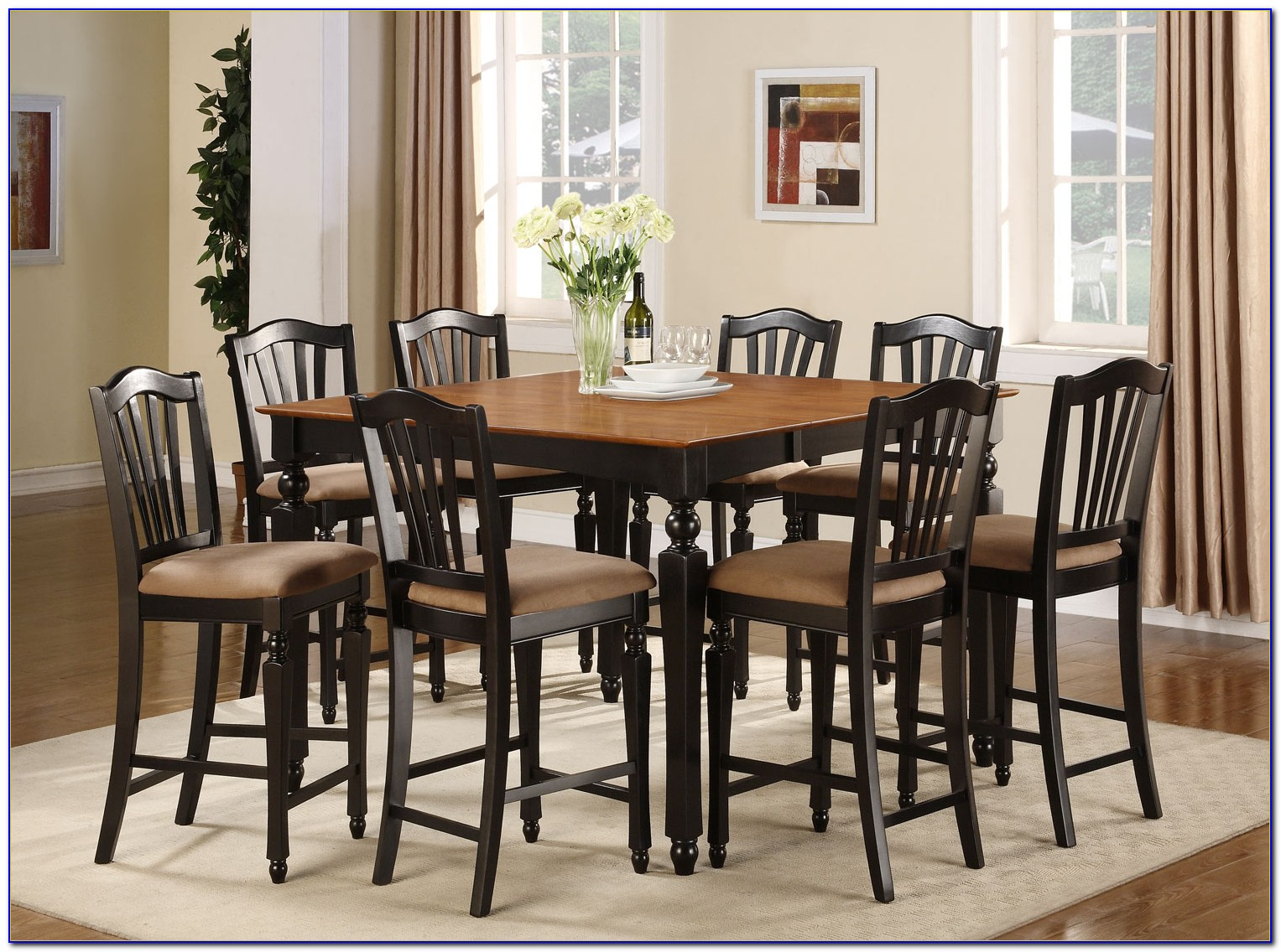 Expandable Pub Table With Chairs