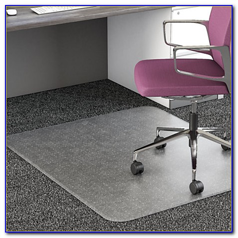 Floor Mat For Office Chair On Wood Floor