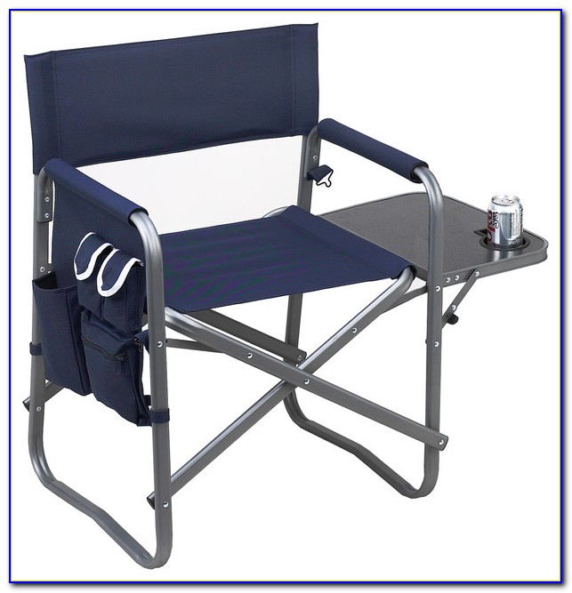 Folding Camp Chair With Side Table