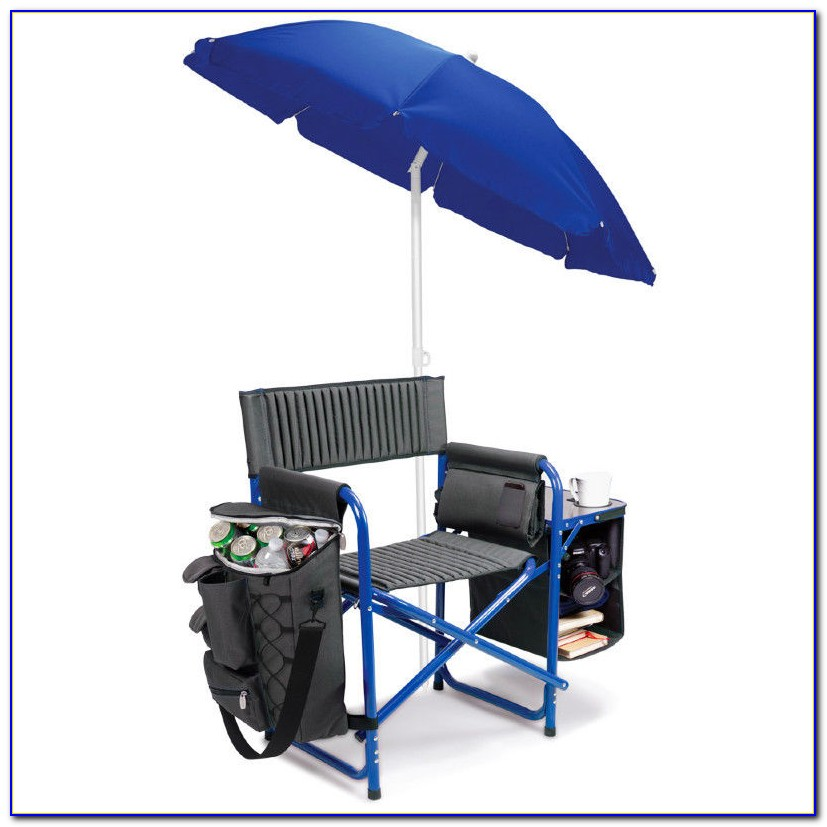 Folding Lawn Chair With Umbrella