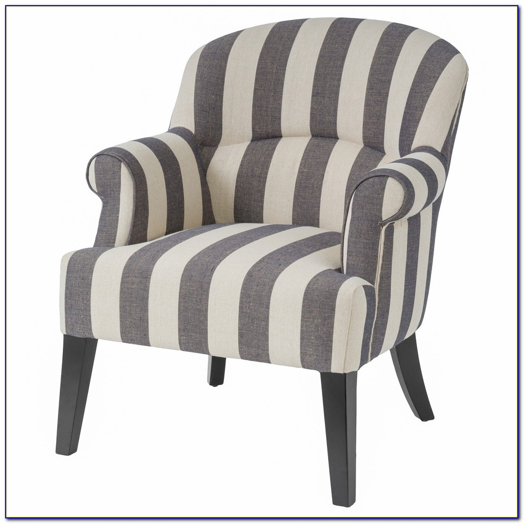 Gray And White Chevron Accent Chair