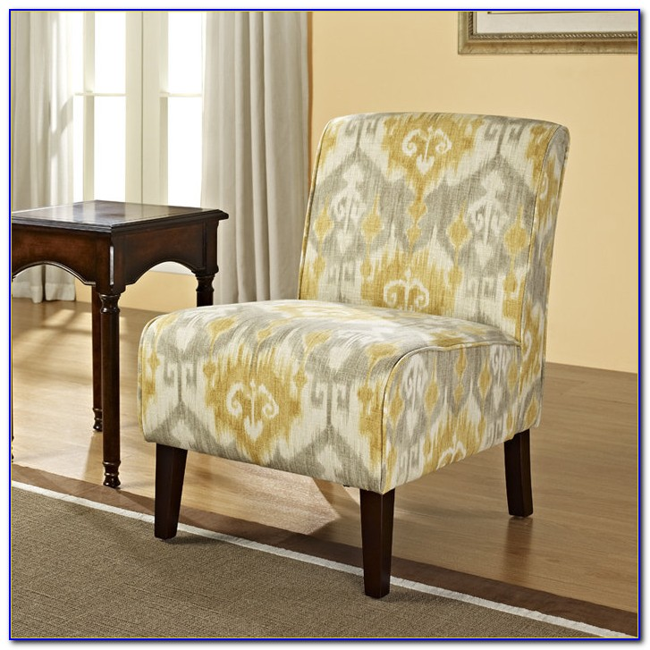 Gray And Yellow Accent Chairs
