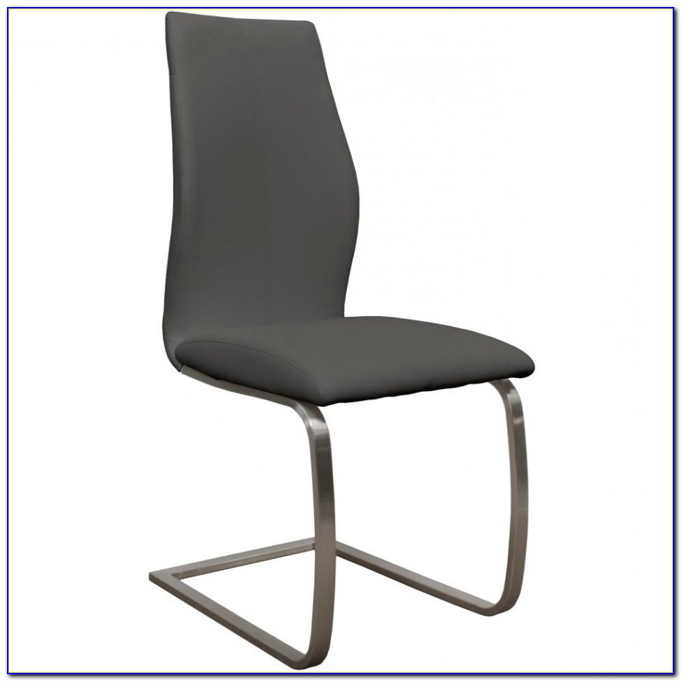 Gray Faux Leather Dining Chairs