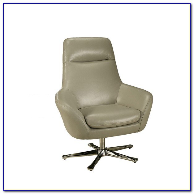 Gray Leather Club Chair